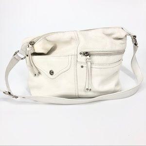 Stone & Company White Medium Genuine Leather Bag